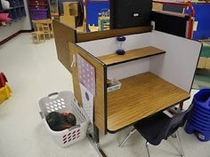 visuals of classroom setup using DT & PRT