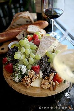 Fresh Fruit and Cheese Platter by Ramona D'viola , via Dreamstime