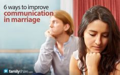 6 Ways to Improve Communication in Marriage  FamilyShare.com #marriage #communication #love