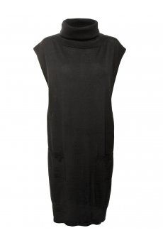 Wool Roll-Neck Apron in Black from the Jean Pual Gaultier Autumn/Winter 2013 womenswear collection, new in at Hervia. http://www.hervia.com/wool-roll-neck-apron-black-p11268 #Fashion #AW13 #Womens #Hervia #JPG #JeanPaulGaultier #Knitwear