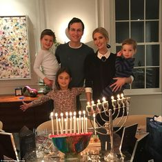Ivanka Trump converted to Judaism to marry her husband, Jared Kushner, and the family cele...