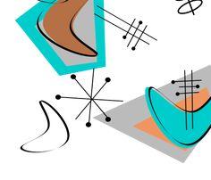 Mid-Century Modern Boomerangs fabric by egnatz on Spoonflower - custom fabric