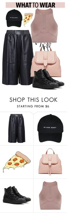 """""""Pizza?"""" by dopegeezy ❤ liked on Polyvore featuring MaxMara, Tattly, Converse and adidas"""