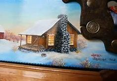 Painted Hand Saws With Cabins - Bing Images