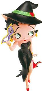 BETTY BOOP going to a halloween party.
