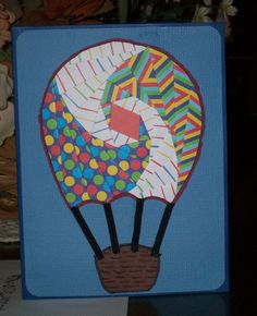 Hot Air Balloon Iris Folded Card by FoldsWithLoveByHolly on Etsy, $3.00