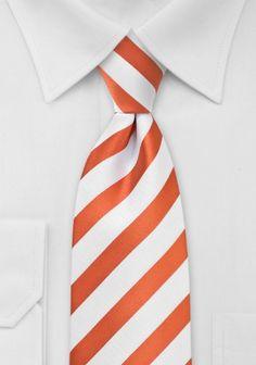 Krawatte Streifenstruktur orange weiß