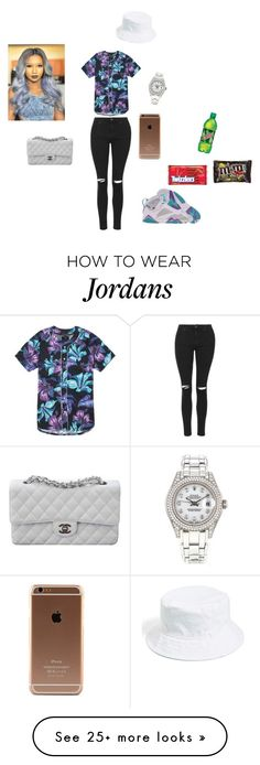 """Chill"" by passionfash on Polyvore featuring Retrò, Topshop, PacSun, Amici Accessories, Rolex and Chanel"