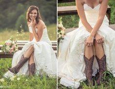 Dress. Cowboy boots.