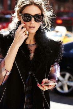 Olivia Palermo I Style Icon Estilo Olivia Palermo, Looks Style, Looks Cool, Zalando Style, Fashion Mode, Fashion Trends, Lifestyle Fashion, Luxury Fashion, Ray Ban Sunglasses