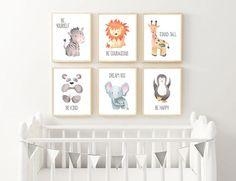 Zoo Animal Nursery Art, Baby Animal Nursery, Safari Nursery, Zoo Animal Nursery Decor, Jungle Animals, Printable 8x10 Instant Downloads