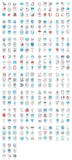 A list of all the 297 icons from diverse topics.