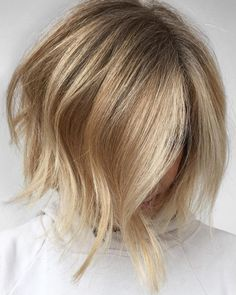 Side Parted Textured Bob