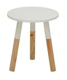 Beistelltisch ZWOLLE Hocker, kleiner runder Tisch, versch. Farben für 25,90 EUR