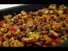Ražniči na plech - Domácí rychlovka Video Recipes - World Food & Recipes Recipe Steps, Kung Pao Chicken, Tray Bakes, Food Videos, Cooking Tips, Food To Make, Pork, Baking, Health