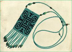 """I made this """"Hannunvaakuna,"""" or Finnish hex-sign necklace for my sister. Fringe drops/accent beads are genuine turquoise."""