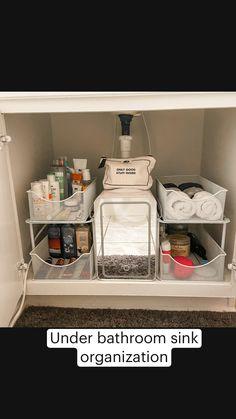 Organizing under my bathroom cabinet! Finally!