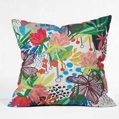 Buy Outdoor Throw Pillow with Honduras designed by Khristian A Howell. One of many amazing home décor accessories items available at Deny Designs. Modern Throw Pillows, Floral Throw Pillows, Throw Pillow Sets, Outdoor Throw Pillows, Decorative Throw Pillows, Gold Pillows, Pillow Lounger, Round Floor Pillow, Floral Throws