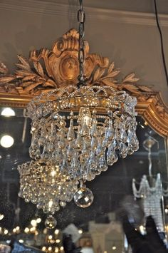 Mini French crystal chandelier -