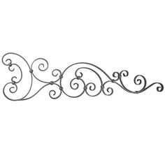"""What a dramatic way to adorn a special space in your home! Mount one or two of these ornate cast iron pieces above a fireplace or perhaps above an entrance or garage door. brbrliDimensions: 43""""w..."""