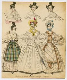 Fashion Plate -dresses Antique Print (with certificate of authenticity)collectorsprints.com