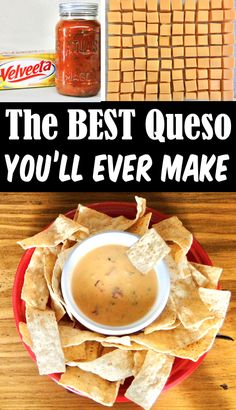 Crockpot Queso Dip Recipe - Easy Velveeta Cheese Dip! This dreamy, creamy dip is SO delicious, and serves as the perfect party hot dip! It also happens to be a fabulous way to satisfy those late night snack attacks! Go grab the reccipe and give it a try this week!