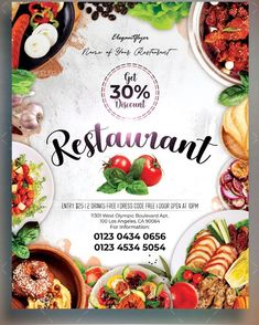 Restaurant – Free Flyer PSD Template Free Flyer Design, Flyer Free, Flugblatt Design, Food Design, Design Ideas, Restaurant Flyer, Restaurant Recipes, Fast Food Specials, Indian Food Menu