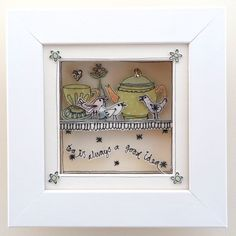 'Tea is always a good idea' Picture Box Frame Art, Box Frames, Box Art, Free Machine Embroidery, Embroidery Applique, Emma Lou, Sewing To Sell, Card Ideas, Gift Ideas