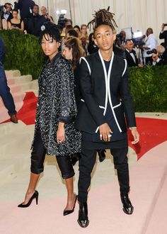Willow Smith & her brother Jaden Smith at the 2016 MET Gala