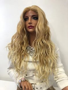 Beautiful Celebrity Lace Wigs & Hairstyles Natural and Beautiful - Our lace wigs are hand styled Balayage Blond, Blonde Wig, All Hairstyles, Straight Hairstyles, Human Lace Wigs, Long Hair Waves, Natural Hair Styles, Long Hair Styles, 360 Lace Wig