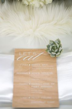 Photography: Kylie Chevalier Photography; Entice Your Guests with These Lovely Wedding Menu Stationery Ideas