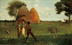 Weaning the Calf by Winslow Homer (1875) Saw in person at the North Carolina Museum of Art!