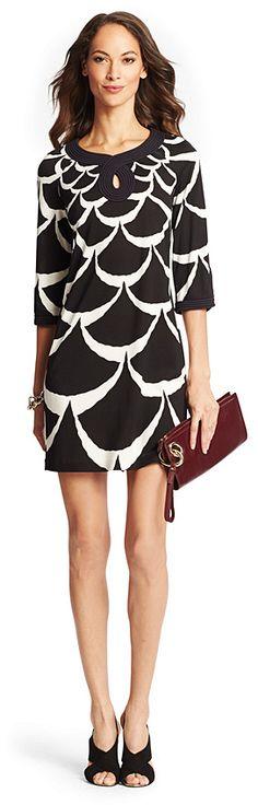 Keyhole Silk Jersey Tunic DressON SALE was:$498.00now:$249.00