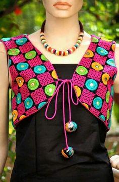 Kutch Embroidered Jacket by local artisans. Kurti Patterns, Blouse Patterns, Indian Fashion, New Fashion, Womens Fashion, Fashion Trends, Indian Dresses, Indian Outfits, Jacket Style Kurti
