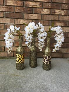 Excited to share this item from my shop: Safari Animal Print Party Theme Set of 3 Gold & Black Glitter Wine Bottles Zoo Jungle Centerpieces Dessert Table Sparkle Leopard Giraffe Jungle Theme Parties, Safari Birthday Party, Jungle Party, 30th Birthday, Leopard Print Party, Animal Print Party, Jungle Centerpieces, Shower Centerpieces, Glitter Wine Bottles