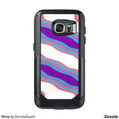 Wavy Phone Case  Available on many more products! Type in the name of this design in the search bar on my Zazzle Products page!  #wavy #wave #abstract #abstraction #art #phone #case #laptop #sleeve #accessory #computer #lifestyle #style #life #accessorize #accent #purple #line #red #blue #stripes #ripple #buy #sale #zazzle #forsale #iphone #apple #mac #electronic #gear #samsung #galaxy