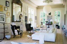 Living room in former Domino magzine editor's #NOLA home