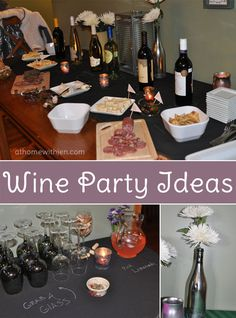 Wine Party Ideas Wine Party Ideas! #partyplanning Wine Recipes, Wine Party Themes, Wine Parties, Cocktail Parties, Party Ideas, Cocktails, Wines, Wine Tasting Events, Wine Tasting Party