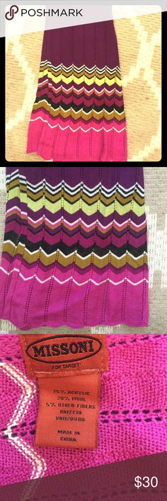 MISSONI for Target Scarf Like new! Great condition, unworn! Missoni Accessories Scarves & Wraps