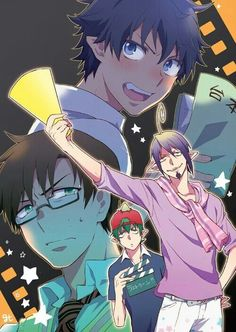 Mephisto, Amaimon, Yukio, Rin, director, movie, funny, blushing, cute, script; Blue Exorcist