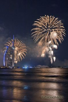 """Burj Al Arab Fireworks"" by Andrew Madali, via #500px."