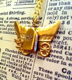 """""""You Have Died of Dysentery"""" Oregon Trail inspired necklace by leslieannelevine, $22.50"""