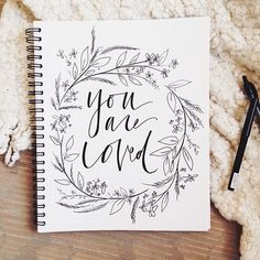 beautiful lettering + doodles.