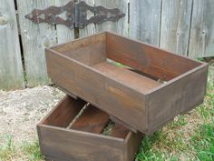 wooden CRaTe...newborn photo prop....wedding centerpiece...storage... Wreckd on Etsy ... upcycled wood. $32.00, via Etsy.