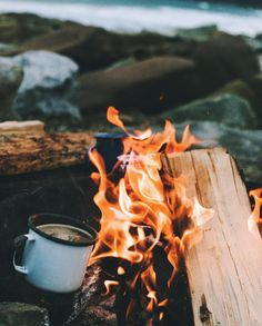 camp life - hot tea.