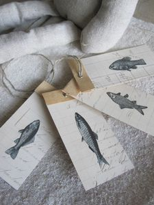 love these fish tags. they'd be fun to duplicate