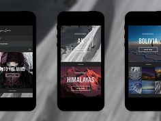 can be a big listview, or a 2 options screen. #iOS #iPhone #concept