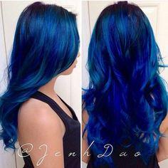 Best Sapphire Blue Hair Color Ideas for Women Look More Stylish Hair Color Blue, Cool Hair Color, Green Hair, Purple Hair, Hair Colours, Ombré Hair, Dye My Hair, Love Hair, Gorgeous Hair