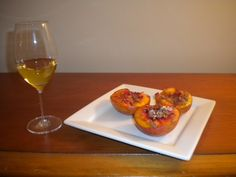 Wine: 2005 Chateau Laribotte Sauternes  Entree: Honey Roasted Apricots with Amaretti Cookie Crumbles