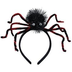 Tinksky Halloween Headband Party Dress Up Holiday Cosplay Spider Headdress Halloween Costumes (Red) * Find out more about the great product at the image link. (This is an affiliate link) #PartySupplies